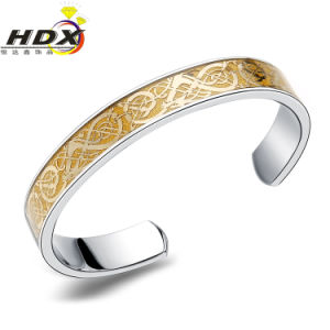Wholesale Fashion Jewelry Stainless Steel Dragon Open Bracelet Gold Bracelet (hdx1123) pictures & photos