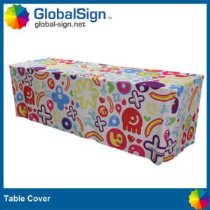 Customized Fitted Table Cover with Full Color Printed pictures & photos