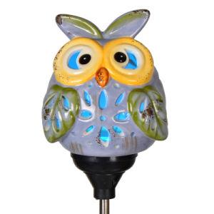 Solar LED Hand-Painting Ceramic Garden Pluggable Unit