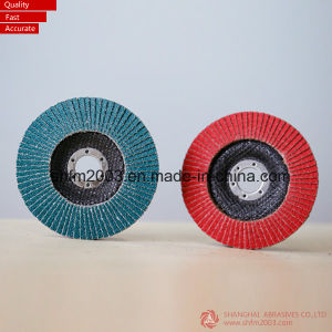 125*22mm, P60 Ceramic Coated Abrasive Flap Disc for Angle Grinder pictures & photos