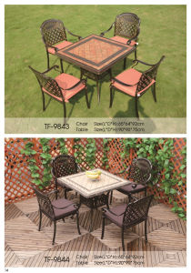 Cast Aluminum Outdoor Furniture Dining Table and Chairs pictures & photos