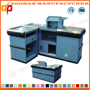 Metal Supermarket Shop Store Checkout Counter Table Desk (ZHc61) pictures & photos