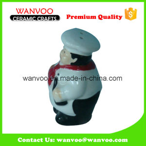 White Ceramic Sauce Bottle with Head Chef Shape pictures & photos