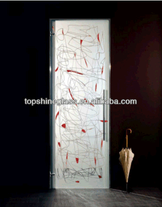 Tempered Printing Glass Doors with En12150 Asnzs2208 BS62061981 pictures & photos
