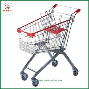 Zinc Clear Finish Shopping Trolley (JT-E01) pictures & photos