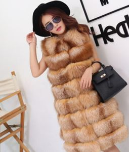 2015 New Factory Price Hot Sale Lady′s Silver Fox Fur Vest pictures & photos
