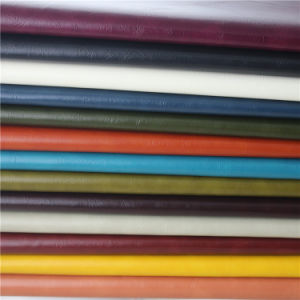 Sofa Leather Semi PU Rexine Leather for Furniture, Textile (838#) pictures & photos