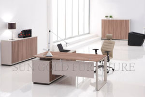 Corner Modern Wooden Melamine Furniture Small Office Table Executive Desk pictures & photos