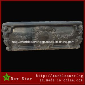 Natural Marble Hand Carved Black Bathtubs pictures & photos