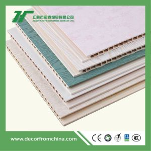 PVC Wall Panel Bamboo Wood Fiber Wallboard Interior Decoration Wood Color pictures & photos