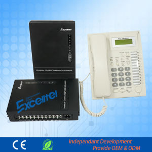 Excelltel Pabx Office Telephone Exchange Mk208 with Keyphone pictures & photos