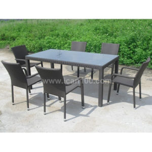 Commercial Rattan Wicker Dining Room Furniture Set (DS-06041) pictures & photos