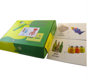 Recycle Puzzle Cards with Colored Box