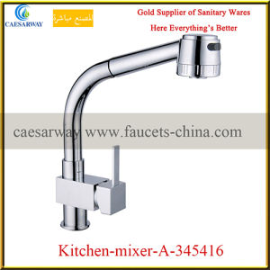 Single Lever Pull out Spray Kitchen Sink Mixer pictures & photos