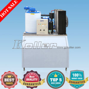 Small Air-Cooling Flake Ice Machine with Ice Receiving Bin (KP20) pictures & photos
