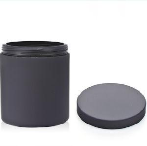 20 Oz /650ml Balck Matt Soft Touch Plastic Supplement Container pictures & photos