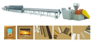 PS Plastic Foam Picture Frame Profile Extruder Machine pictures & photos