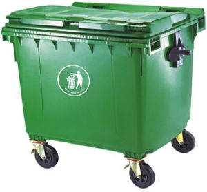 1100 Liter Trash Container Green Color pictures & photos