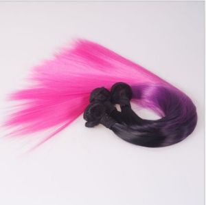 High Quality Black Powder Mixed Gradient Synthetic Hair Weft