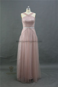 China Factory OEM Long Tulle Brides Maid Dress for Wedding