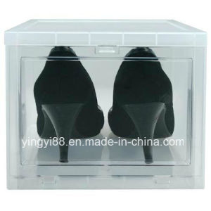 Super Quality Drop Front Shoe Box with Drop Front Opening pictures & photos