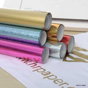 Glitter Heat Transfer Vinyl Width 50cm Length 25m for All Fabric pictures & photos