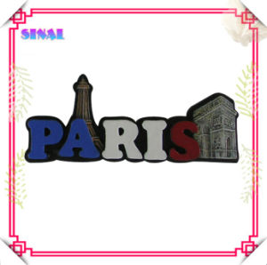 Polyresin Paris Magnetic Souvenirs Fridge Magnet