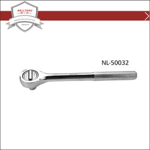 "18"" Ratchet Wrench with Knurled Handle, Chrome Plated."
