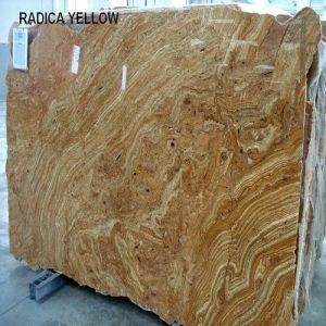 Imported Polished Natural Granite Slab Radica Yellow