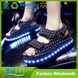 Summer Magic Stick Thick Bottom USB Charging LED Luminous Shoes pictures & photos