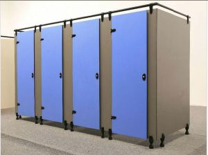 1950mm Height Compact Solid Color Public Toilet Cubicle pictures & photos