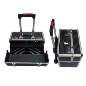 Trolley Cosmetic Case with Trays pictures & photos