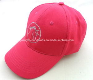 Excellent Quality Fashion Pink Embroidered Cap pictures & photos