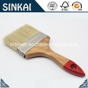 Flat Paint Brush with Wood Handle and Mixed Bristles pictures & photos