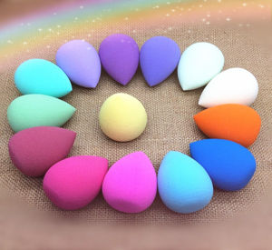 Rainbow Raindrops Type Non-Latex Makeup Sponge/Cute Owder Puff pictures & photos