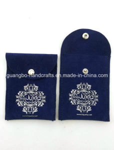 Custom Gray Button Printing Jewelry Pouch Bag pictures & photos