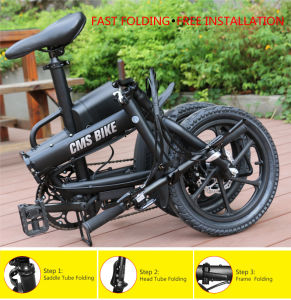 Cms-F16 Foldable Electric Bicycle with Lithium Battery pictures & photos
