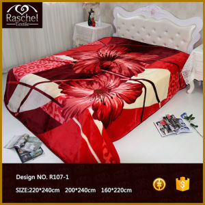 100 % Polyester Korean Style 2 Ply 1 Side Embossed Blanket