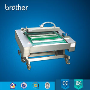 Fully Automatic Chamber Continuous Vacuum Sealer Packing Machine for Bags Meat Fish Food pictures & photos