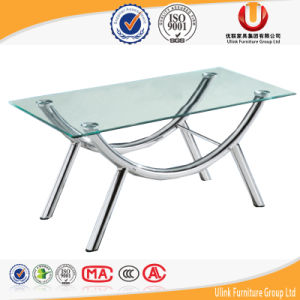 Hot Sale Modern MDF Side Desk /Glass Coffee Table (UL-ST609) pictures & photos