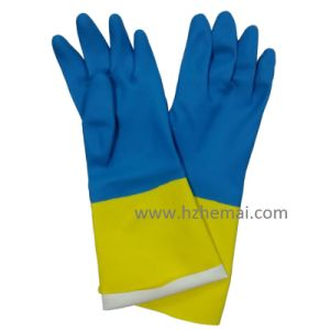 Green Nitrile Industrial Gloves Safety Chemical Work Glove pictures & photos