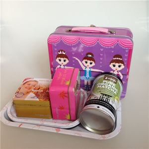 Fashion Cute Tinplate Kids Lunch Box pictures & photos