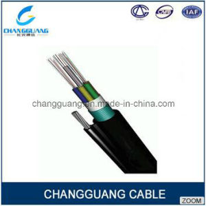 Gytc8a/S Self Supporting Aerial Fiber Optic Cable with Loose Tube Stranded Armored Steel as Central Strength Member Optic Cable pictures & photos