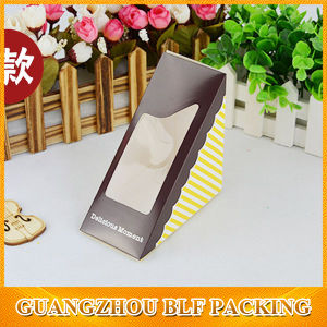 Custom Paper Triangle Box with Window Packaging (Blf-Pbo293 pictures & photos