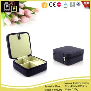 2016 New Items PU Leather Printed Jewelry Box Custom Logo (8050) pictures & photos