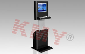 Height Adjustable LCD Display Information Checking Kiosk with Keyboard pictures & photos