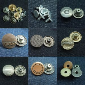 Custom Metal for Jeans Jacket Plating Cloth Button pictures & photos