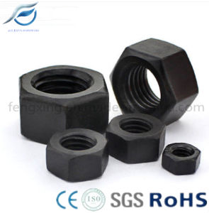 Black High Strength Carbon Steel Hex Nut