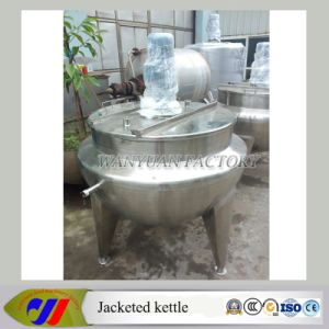 Vertical Steam Heating Jacketed Cooking Pot for Food pictures & photos