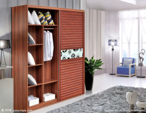 Modern Bedroom Furniture Wooden Wall Wardrobe with Sliding Door pictures & photos